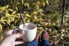 Καφές στον κήπο Στοκ εικόνα με δικαίωμα ελεύθερης χρήσης