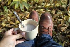 Καφές στον κήπο Στοκ φωτογραφία με δικαίωμα ελεύθερης χρήσης