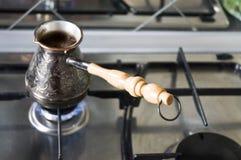 Καφές στον Τούρκο Στοκ εικόνα με δικαίωμα ελεύθερης χρήσης