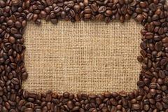 καφές συνόρων φασολιών Στοκ Εικόνες