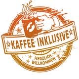 Καφές σφραγιδών συμπεριλαμβάνων Στοκ Φωτογραφία