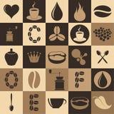 Καφές Σύνολο εικονιδίων Στοκ φωτογραφίες με δικαίωμα ελεύθερης χρήσης