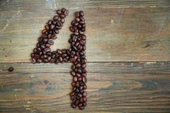 καφές τέσσερις αριθμός Στοκ Εικόνα