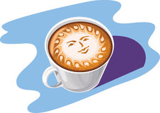 καφές τέχνης ελεύθερη απεικόνιση δικαιώματος