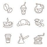 Καφές τα εύκολα εικονίδια ανασκόπησης αντικαθιστούν το διαφανές διάνυσμα σκιών Στοκ φωτογραφίες με δικαίωμα ελεύθερης χρήσης