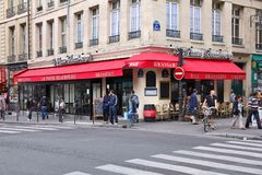 Καφές του Παρισιού Στοκ Εικόνες