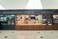 Καφές του Paul στον αερολιμένα Στοκ Εικόνα