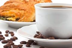 καφές τυριών κουλουριών &p στοκ εικόνες