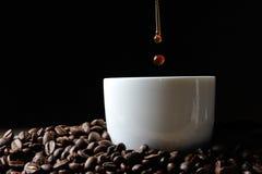 καφές φασολιών ανασκόπησης Στοκ φωτογραφίες με δικαίωμα ελεύθερης χρήσης