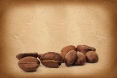 καφές φασολιών ανασκόπησης grunge Στοκ φωτογραφίες με δικαίωμα ελεύθερης χρήσης