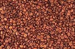 καφές φασολιών ανασκόπησ&et Στοκ Φωτογραφία