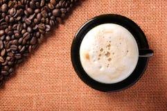 καφές φασολιών ανασκόπησ&eta στοκ εικόνες με δικαίωμα ελεύθερης χρήσης