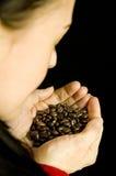 καφές φασολιών αρώματος Στοκ φωτογραφίες με δικαίωμα ελεύθερης χρήσης