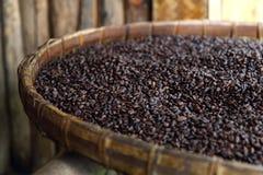 καφές φασολιών καλαθιών Στοκ φωτογραφία με δικαίωμα ελεύθερης χρήσης