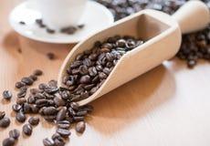 καφές φασολιών που ψήνεται Στοκ εικόνα με δικαίωμα ελεύθερης χρήσης