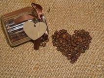 Καφές - φασόλια καφέ καφέ αγάπης Ι σε ένα βάζο στοκ φωτογραφίες με δικαίωμα ελεύθερης χρήσης