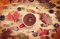 Καφές φθινοπώρου Στοκ εικόνες με δικαίωμα ελεύθερης χρήσης