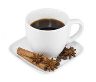 Καφές φλυτζανιών που απομονώνεται στο άσπρο υπόβαθρο Στοκ εικόνα με δικαίωμα ελεύθερης χρήσης
