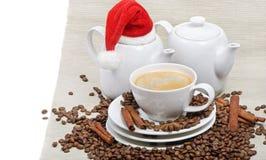 καφές Χριστουγέννων Στοκ φωτογραφία με δικαίωμα ελεύθερης χρήσης