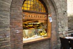 Καφές Gelateria της Φλωρεντίας Στοκ φωτογραφία με δικαίωμα ελεύθερης χρήσης