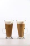 Καφές Latte στο λευκό Στοκ Φωτογραφία