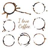 καφές rigns διανυσματικό λευκό καρ&chi Καφές ιχνών Στοκ εικόνα με δικαίωμα ελεύθερης χρήσης