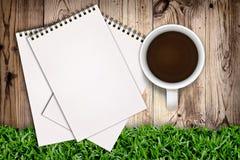 καφές sketchbook Στοκ Φωτογραφίες