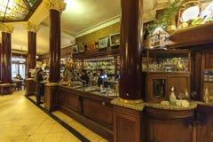 Καφές Tortoni, Buoenos Aires, Αργεντινή στοκ εικόνα με δικαίωμα ελεύθερης χρήσης