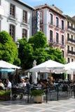 Καφέδες πεζοδρομίων, Γρανάδα Στοκ Φωτογραφίες