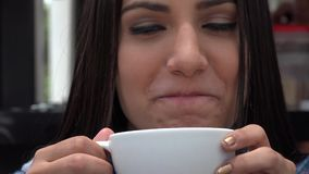 Καφέδες, τσάγια, ποτά, ποτά απόθεμα βίντεο