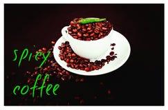Καφέ πικάντικο τροφίμων φλυτζάνι φασολιών ποτών καφετί Στοκ Εικόνες