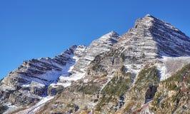 Καφέ σειρά βουνών κουδουνιών, Aspen στο Κολοράντο, ΗΠΑ Στοκ Φωτογραφία