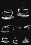 Καφέ φλυτζανιών διανυσματικό εικονιδίων αντικείμενο απεικόνισης υποβάθρου αφηρημένο Στοκ φωτογραφία με δικαίωμα ελεύθερης χρήσης