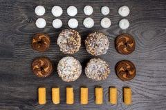 καφέδων σχεδίου καθορισμένα γλυκά εστιατορίων ιδέας συμπαθητικά Στοκ Φωτογραφία