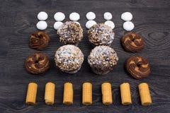 καφέδων σχεδίου καθορισμένα γλυκά εστιατορίων ιδέας συμπαθητικά Στοκ εικόνες με δικαίωμα ελεύθερης χρήσης