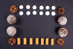 καφέδων σχεδίου καθορισμένα γλυκά εστιατορίων ιδέας συμπαθητικά Στοκ Εικόνες