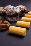 καφέδων σχεδίου καθορισμένα γλυκά εστιατορίων ιδέας συμπαθητικά Στοκ φωτογραφία με δικαίωμα ελεύθερης χρήσης
