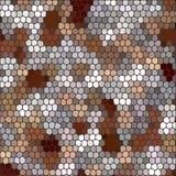 Καφετής-γκρίζα χαλίκια γεωμετρική απεικόνιση polygonal ύφος, υπόβαθρο μωσαϊκών 10 eps διανυσματική απεικόνιση