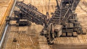 Καφετής εκσκαφέας κάδων ορυχείων κόλας στοκ εικόνες με δικαίωμα ελεύθερης χρήσης