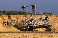 Καφετής εκσκαφέας κάδων ορυχείων κόλας στοκ εικόνα με δικαίωμα ελεύθερης χρήσης