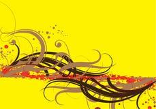 καφετής κίτρινος Απεικόνιση αποθεμάτων