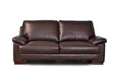 καφετής καναπές δέρματος Στοκ εικόνες με δικαίωμα ελεύθερης χρήσης