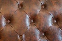 καφετής καναπές δέρματος Στοκ Εικόνες