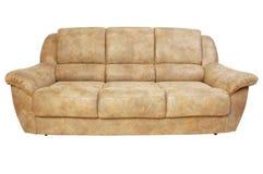 καφετής καναπές δέρματος Στοκ εικόνα με δικαίωμα ελεύθερης χρήσης
