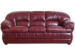 καφετής καναπές Στοκ Φωτογραφίες