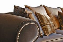 καφετής καναπές στοκ εικόνες με δικαίωμα ελεύθερης χρήσης
