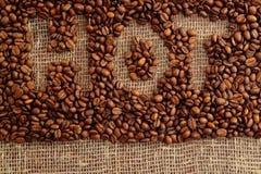 καφετής καφές ανασκόπησης Στοκ Εικόνες