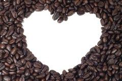 Καφετής καφές καρδιών Στοκ Εικόνες
