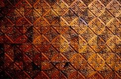 Καφετής κεραμικός κεραμωμένος τοίχος Backgroud, συστάσεις στοκ φωτογραφία