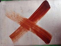 Καφετής σταυρός στοκ φωτογραφία με δικαίωμα ελεύθερης χρήσης